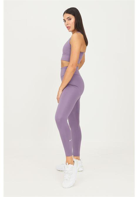 Leggings donna viola nike modello slim con logo a contrasto sul fondo NIKE | Leggings | DD0252574