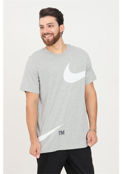 T-shirt uomo grigio nike a manica corta con stampa a contrasto NIKE | T-shirt | DD3349063