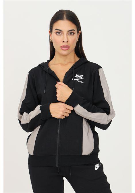Felpa nike sportswear heritage donna nero NIKE | Felpe | DD5671010
