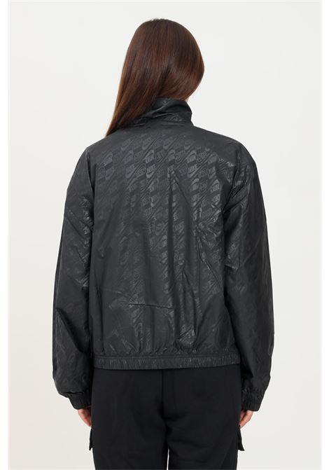 Giacca a vento donna nero nike con stampa logo pattern NIKE | Giubbotti | DD5786010