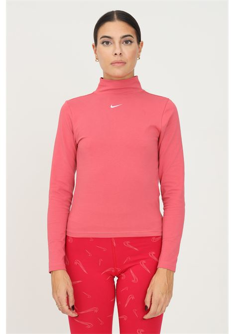 T-shirt donna rosa nike a manica lunga con ricamo logo frontale NIKE | T-shirt | DD5882622