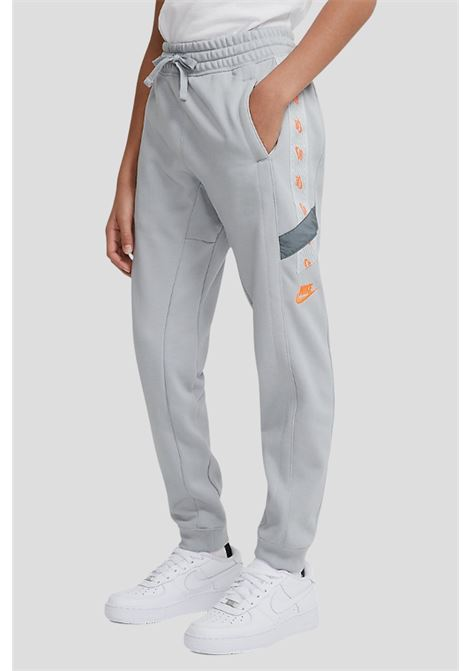 Grey baby trousers by nike with side logo band NIKE | Pants | DD8703077