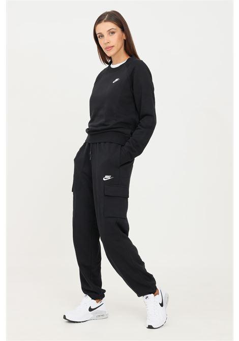Pantaloni donna nero nike sport con tasche cargo laterali NIKE | Pantaloni | DD8713010
