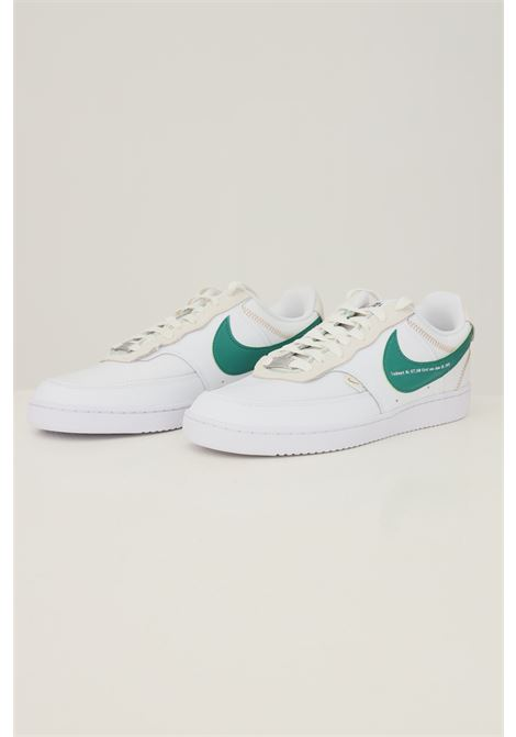 White men's nike court vision lo premium sneakers with contrasting logo NIKE   Sneakers   DJ2001100