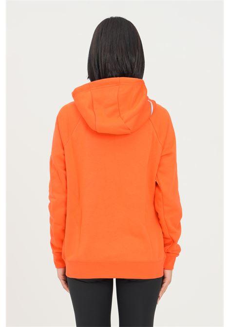 Felpa donna arancio nike con zip e cappuccio NIKE | Felpe | DJ4120869