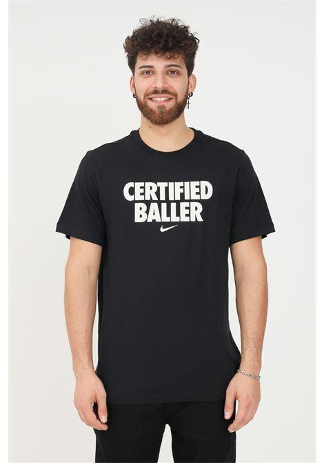 T-shirt unisex nero nike a manica corta con stampa glitter frontale NIKE | T-shirt | DM2449010