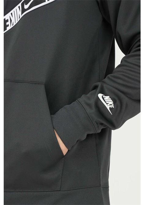 Felpa nike sportswear uomo nero con cappuccio e zip a tutta lunghezza NIKE | Felpe | DM4672070