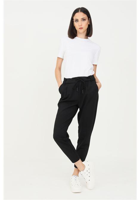 Pantaloni donna nero only casual dal taglio classico con elastico in vita ONLY | Pantaloni | 15115847-L32BLACK