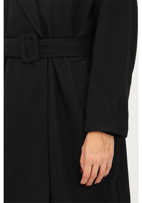 Black women's coat by only with belt at the waist ONLY   Coat   15234780BLACK