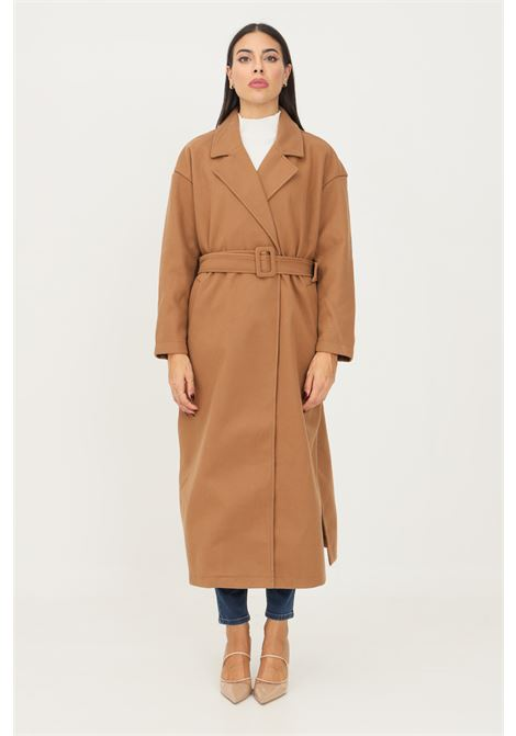 Camel women's coat by only with belt at the waist ONLY   Coat   15234780TOASTED COCONUT