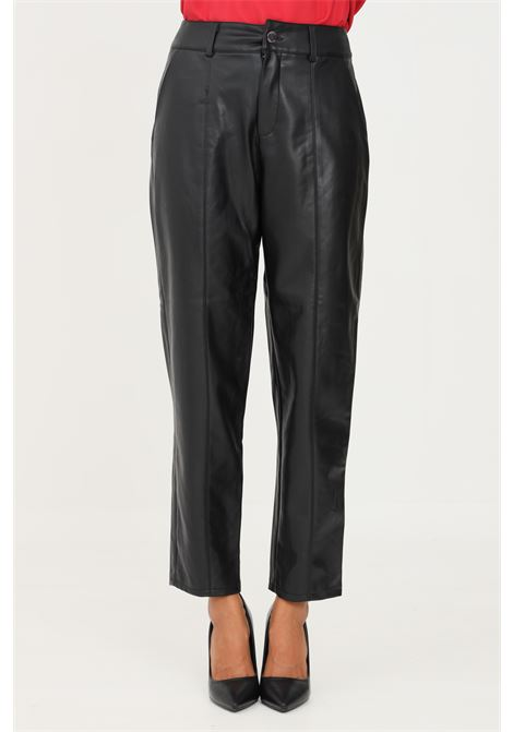 Pantaloni donna nero only modello casual in similpelle ONLY | Pantaloni | 15235370BLACK