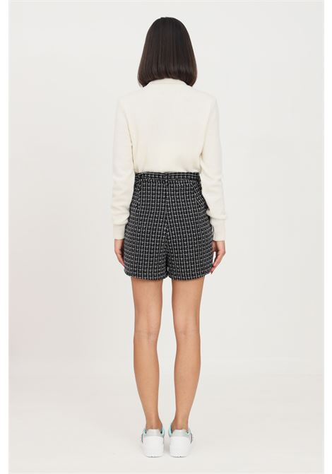 Black women's shorts by only, casual model with geometric embroidery ONLY | Shorts | 15235803BLACK