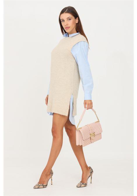 Gilet in maglia da donna beige only taglio midi ONLY | Gilet | 15235961PUMICE STONE