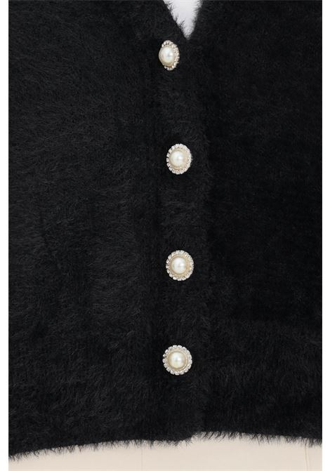 Black women's cardigan by only with jewel buttons on the front ONLY   Cardigan   15235972BLACK