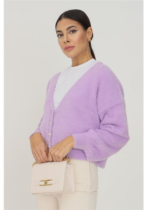 Lilac women's cardigan by only with jewel buttons on the front ONLY   Cardigan   15235972CROCUS PETAL