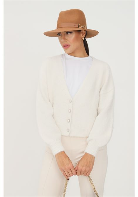 Cream women's cardigan by only with jewel buttons on the front ONLY   Cardigan   15235972EGRET
