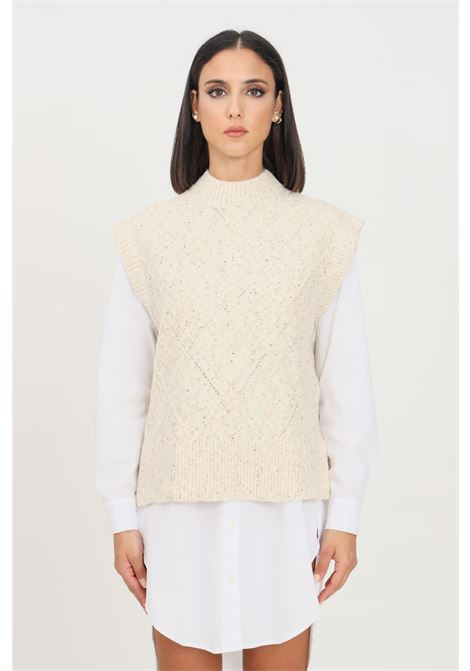 Maglioncino donna panna only smanicato ONLY | Gilet | 15235980PUMICE STONE