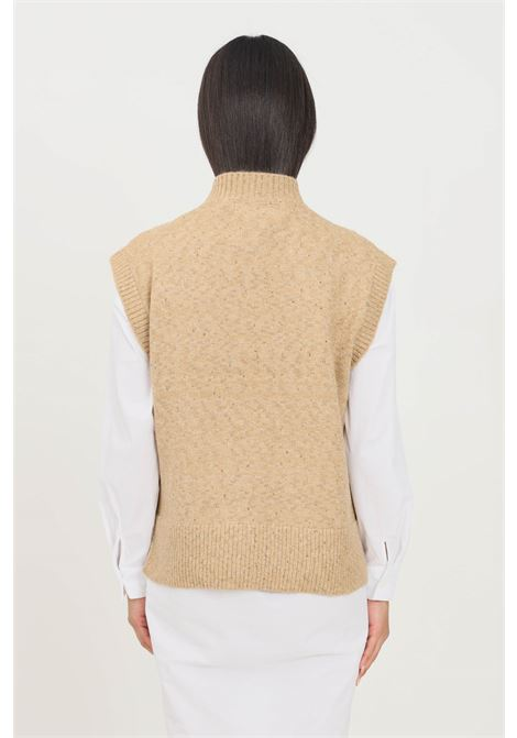 Maglioncino donna oro only smanicato ONLY | Gilet | 15235980TANNIN
