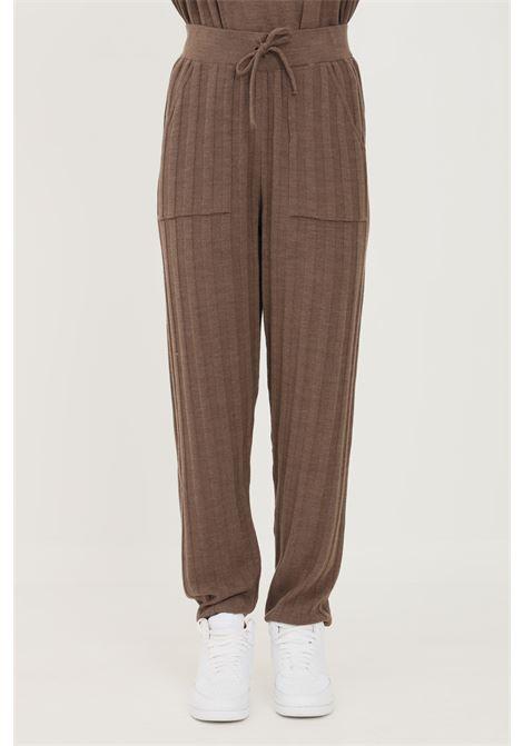Pantaloni donna only modello casual con banda elastica in vita ONLY | Pantaloni | 15236374CHESTNUT
