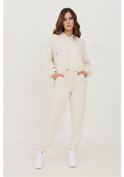 Pantaloni donna beige only modello casual con banda elastica in vita ONLY | Pantaloni | 15236374PUMICE STONE