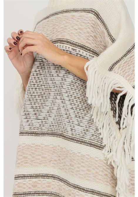 Gilet in maglia donna panna only a collo alto e frange sul fondo ONLY | Gilet | 15236379PUMICE STONE