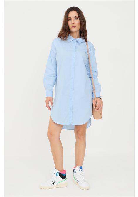 Abito donna azzurro only corto chemisier chiusura con bottoni ONLY | Abiti | 15237324MEDIUM BLUE DENIM