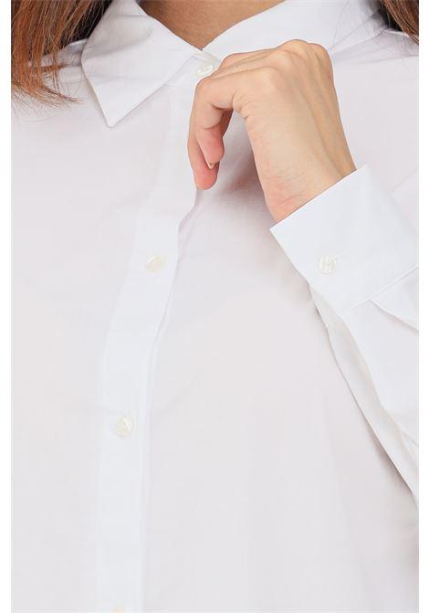 Abito donna bianco only corto chemisier chiusura con bottoni ONLY | Abiti | 15237324WHITE