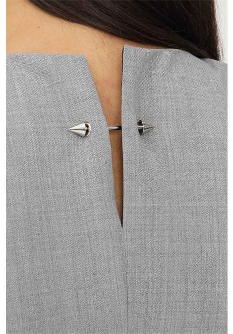 Abito donna grigio patrizia pepe corto con spalline interne PATRIZIA PEPE | Abiti | 2A2253/A1PHS131