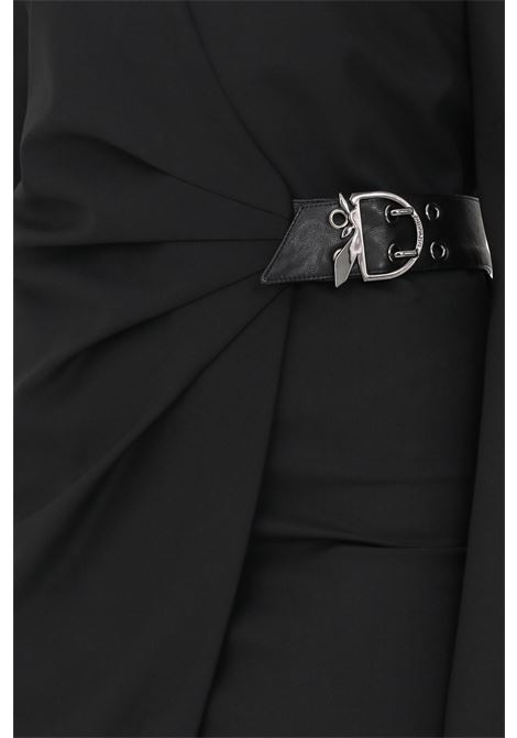 Abito da cocktail donna nero patrizia pepe con applicazione fibbia PATRIZIA PEPE | Abiti | 2A2276/A1PHK103