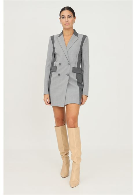 Grey jacket dress by patrizia pepe with metal application on the back PATRIZIA PEPE   Dress   2A2294/A1PHFC18