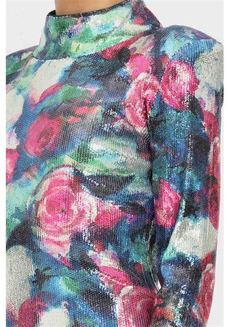 Abito donna con stampa fiori in micro paillettes patrizia pepe PATRIZIA PEPE | Abiti | 2A2309/A9Y0XV11