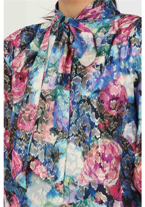Blusa donna stampa fiori con inserti lurex patrizia pepe PATRIZIA PEPE | Camicie | 2C1302/A9Y2XV11