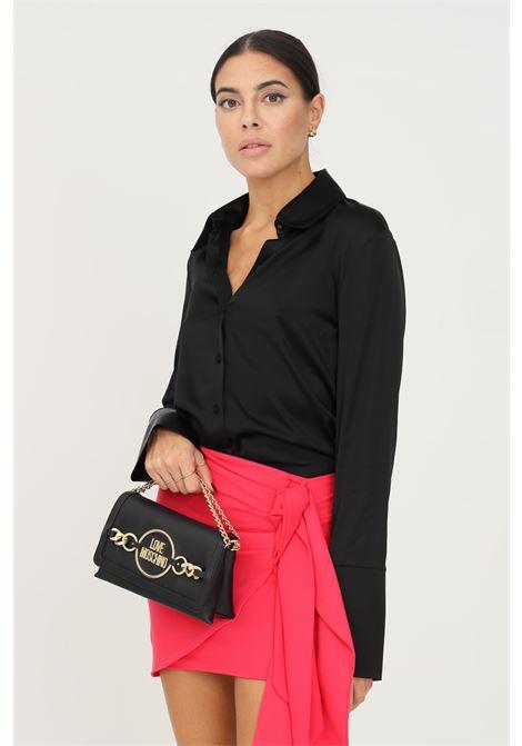 Camicia donna nero patrizia pepe elegante con fondo manica ampio PATRIZIA PEPE | Camicie | 2C1321/A644K103