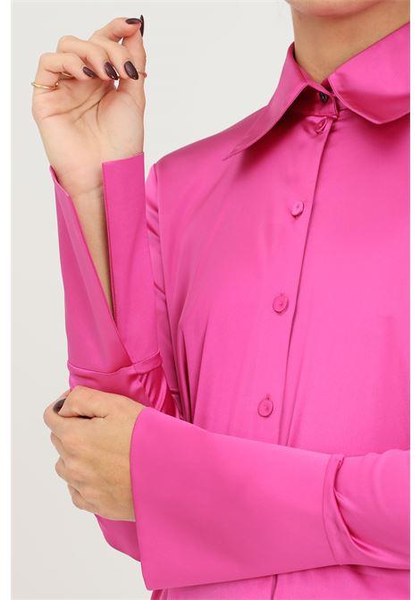 Camicia donna fucsia patrizia pepe elegante con fondo manica ampio PATRIZIA PEPE | Camicie | 2C1321/A644M411