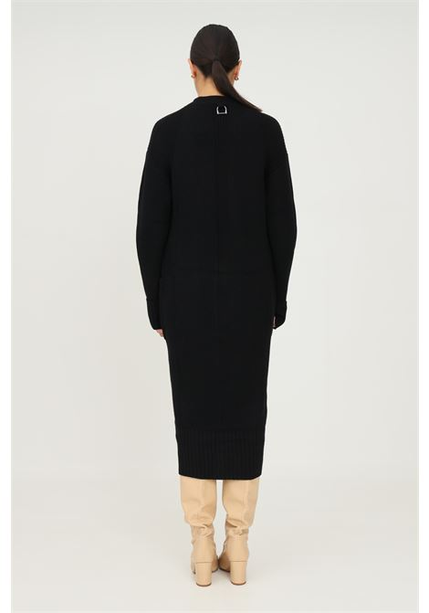 Black women's cardigan by patrizia pepe, long cut with front pockets PATRIZIA PEPE | Cardigan | 2M4117/A9O3K103