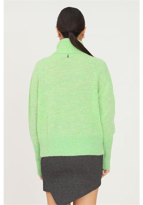 Maglioncino donna verde patrizia pepe a collo alto con applicazione strass sul davanti PATRIZIA PEPE | Maglieria | 2M4167/A9U1G518