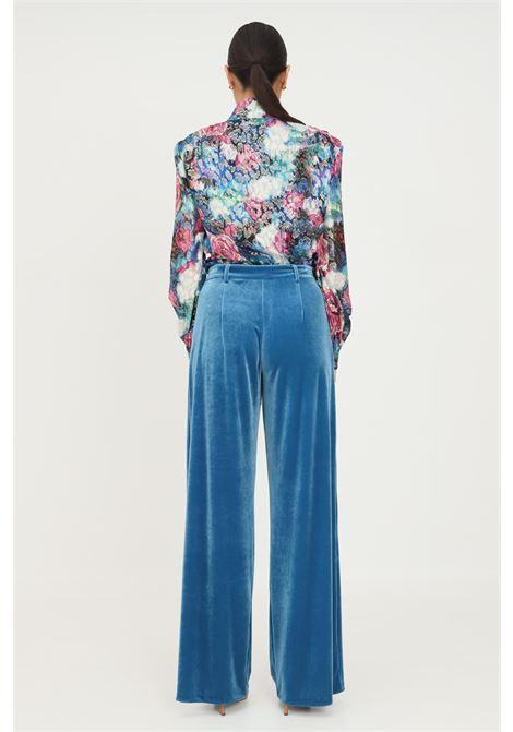 Pantaloni donna blu patrizia pepe elegante in velluto PATRIZIA PEPE | Pantaloni | 2P1363/A9V2G516