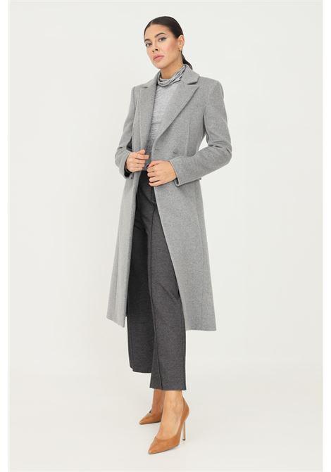 Cappotto in panno donna grigio patrizia pepe taglio lungo PATRIZIA PEPE | Cappotti | 2S1363/A171S263