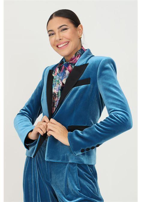 Giacca donna blu patrizia pepe in velluto PATRIZIA PEPE | Giacche | 2S1400/A9V2G516