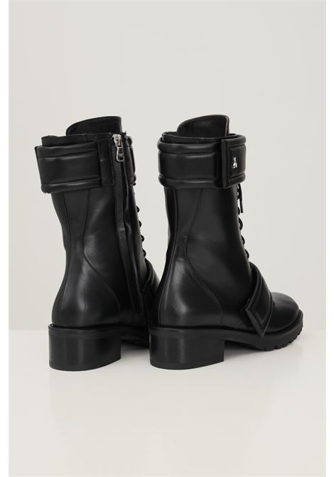 Black women's boots by patrizia pepe with velcro bands PATRIZIA PEPE   Ankle boots   2VA283/A9Q7K103