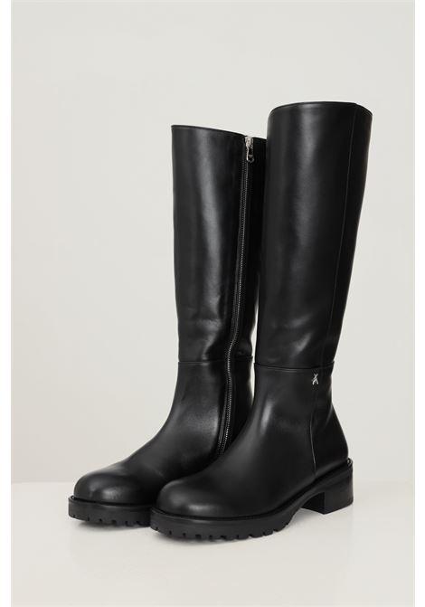 Stivali donna nero patrizia pepe con zip laterale PATRIZIA PEPE   Stivali   2VA354/A3KWK103