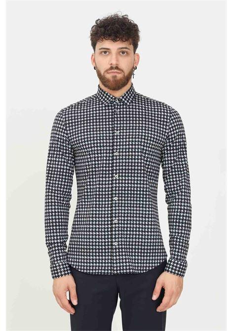 Black men's shirt by patrizia pepe, elegant model with allover print PATRIZIA PEPE | Shirt | 5CP55B/A8E9J4P7