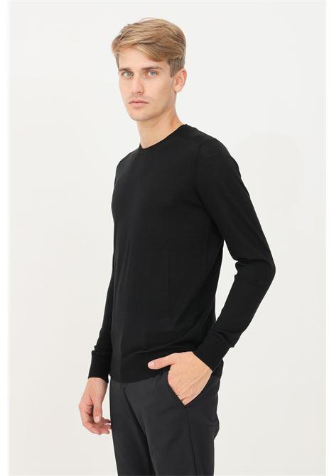 Black men's sweater by patrizia pepe, crew neck model PATRIZIA PEPE | Knitwear | 5M1250/A124K102