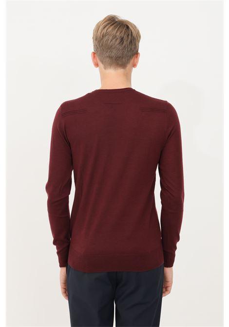 Bordeaux men's sweater by patrizia pepe, crew neck model PATRIZIA PEPE | Knitwear | 5M1250/A124R736