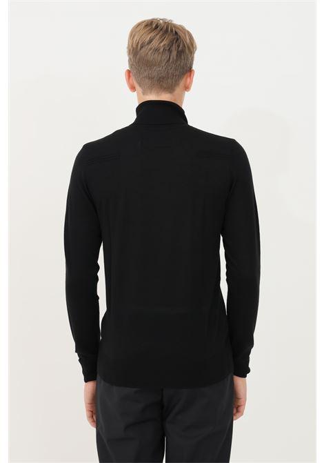 Black men's sweater by patrizia pepe high neck model and lightweight fabric PATRIZIA PEPE | Knitwear | 5M1252/A124K102