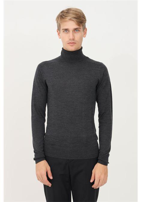 Grey men's sweater by patrizia pepe high neck model and lightweight fabric PATRIZIA PEPE | Knitwear | 5M1252/A124S119