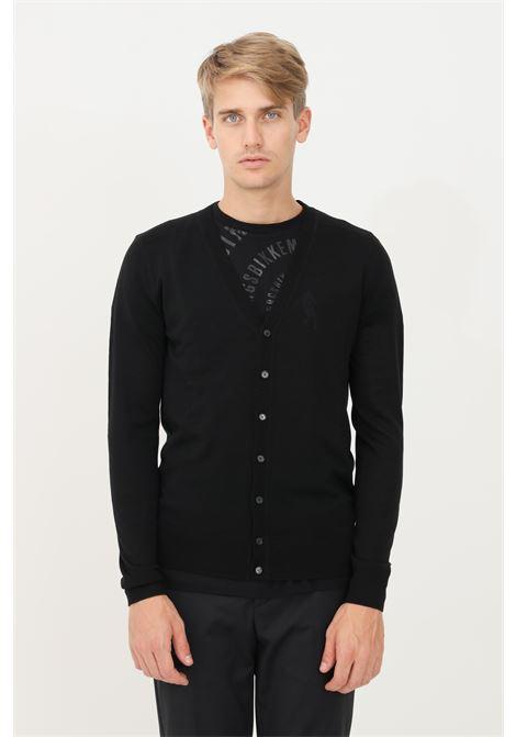 Black men's cardigan by patrizia pepe with buttons PATRIZIA PEPE | Cardigan | 5M1293/A124K102
