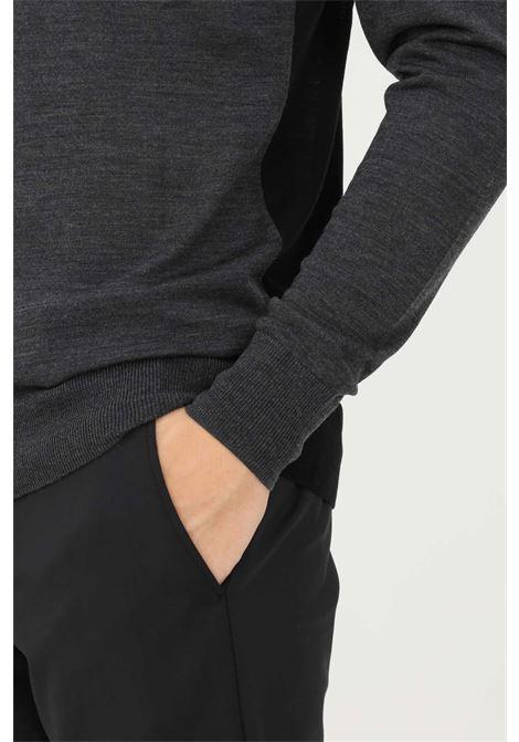 Grey black men's sweater by patrizia pepe crew neck model PATRIZIA PEPE | Knitwear | 5M1311/A9T0J4P5