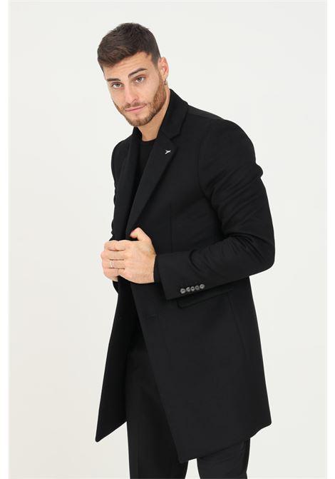 Black men's coat by patrizia pepe, front closure with buttons PATRIZIA PEPE | Coat | 5S0737/A2VDK416