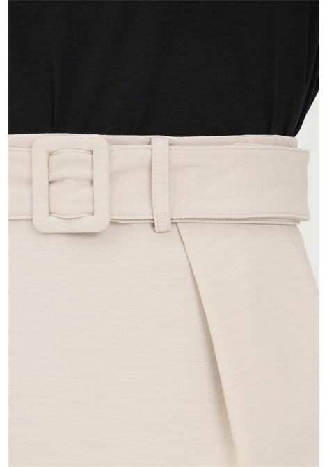 Beige mini skirt by patrizia pepe with belt PATRIZIA PEPE | Skirt | 8G0236/A7M9S614